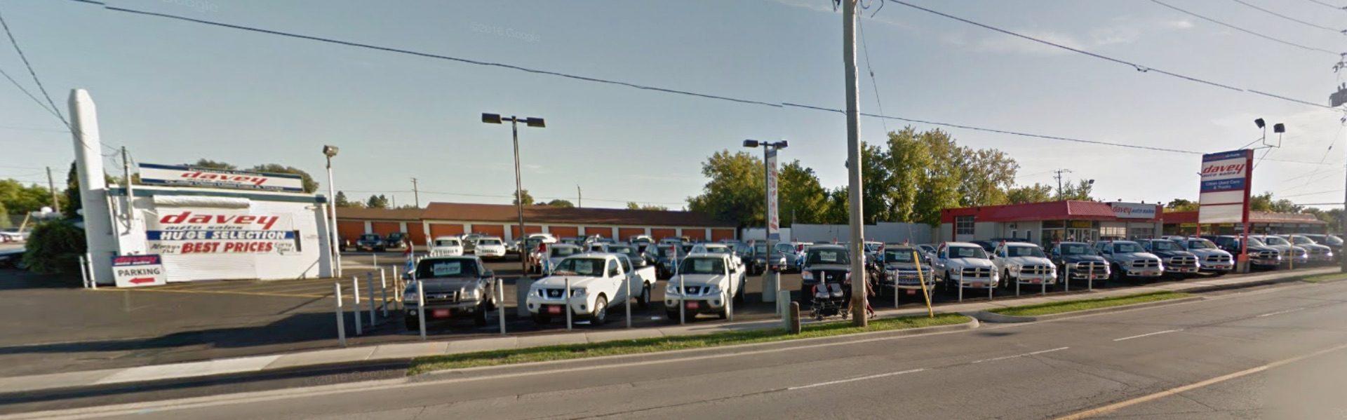 Street view of Davey Auto Sales