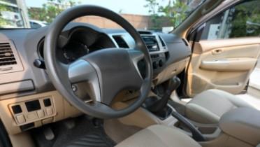 Interior of used vehicle