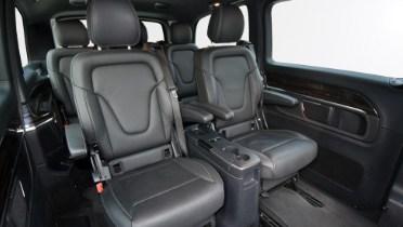 Black and gray minivan interior