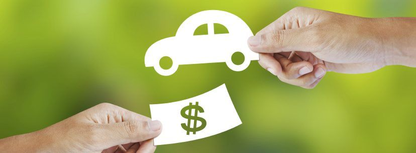 Exchange of vehicle and money graphic