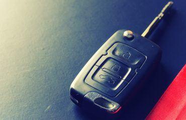 Close-up of car keys